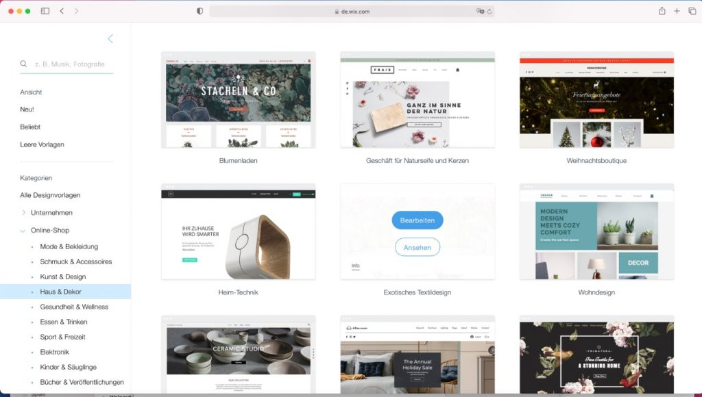 Webseite mit templates erstellen Uster zuerich