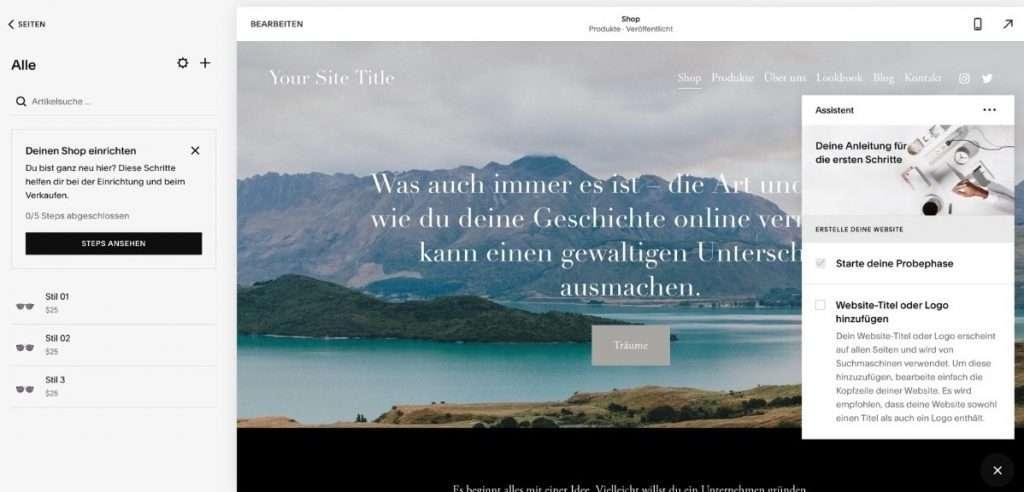webseite mit Squarespace erstellen uster wetzikon