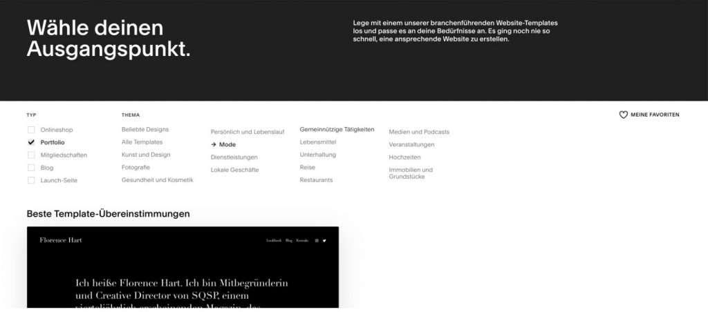 Webseite mit Squarespace erstellen