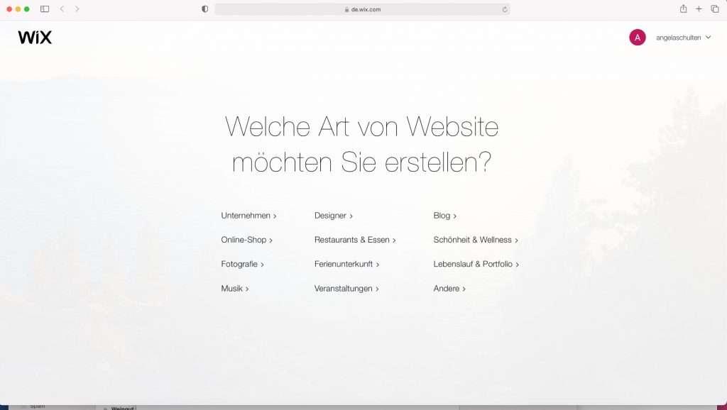 Wix homepage vorlagen