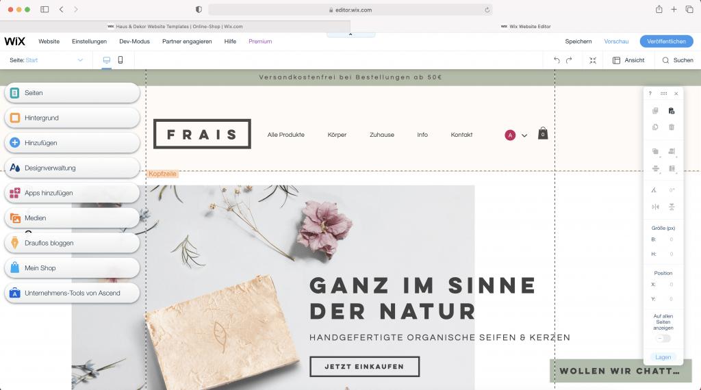 wix webseite erstellen Uster Zuerich